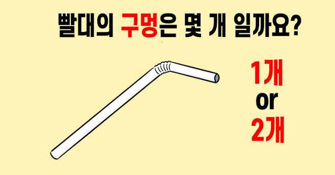 출처: [논란 종결] 빨대의 구멍은 몇 개 일까요?