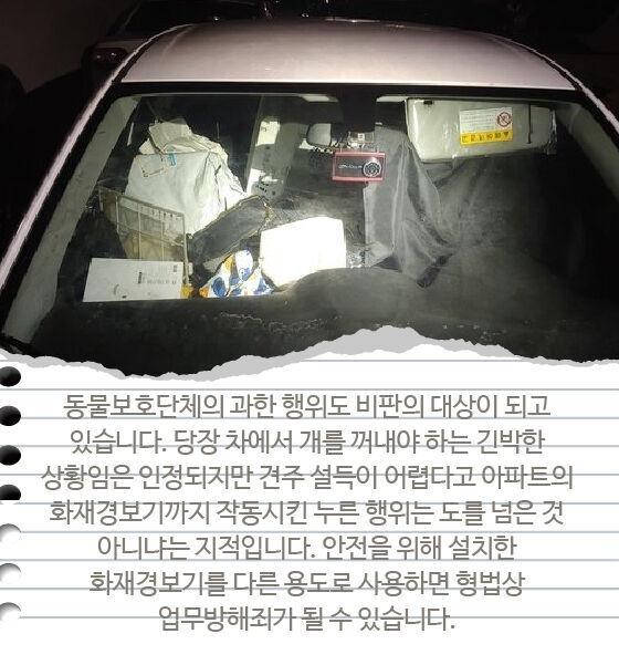 출처: 부산 해운대구 한 아파트 야외주차장에 세워진 차 안에 강아지가 1년 넘게 갇혀서 지내고 있다는 신고가 접수됐다. 사진은 강아지가 지내고 있는 차량 내부./사진=뉴스1