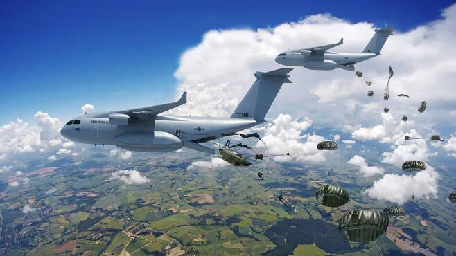 군용수송기 및 특수목적기 가상개념도(한국항공우주산업 제공)© 뉴스1
