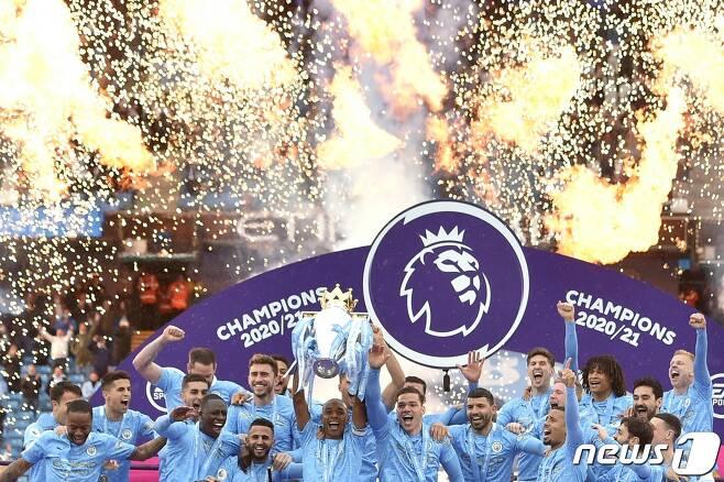 2020-21시즌 EPL 우승을 차지한 맨체스터 시티. © AFP=뉴스1