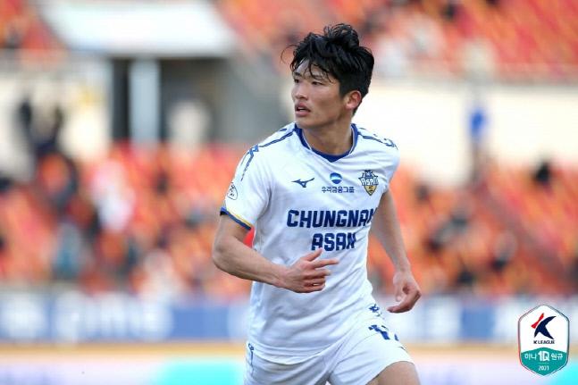 충남 아산을 떠나는 료헤이. 제공 | 한국프로축구연맹
