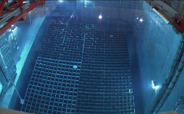 원전 내 사용후핵연료 습식저장소(수조). 현재까지 누적된 사용후핵연료는 1만5000t 수준이다. 한국수력원자력 제공