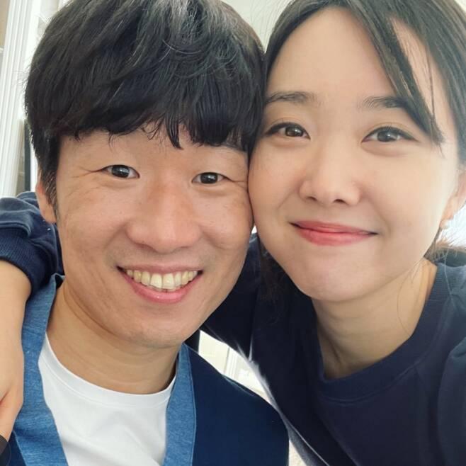 ▲ 박지성(왼쪽)과 김민지. 출처ㅣ김민지 SNS