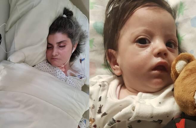 임신 7개월에 심장마비로 혼수상태에 빠진 이탈리아 여성이 기적적으로 깨어나 딸을 품에 안았다. (고펀드미 갈무리) © 뉴스1