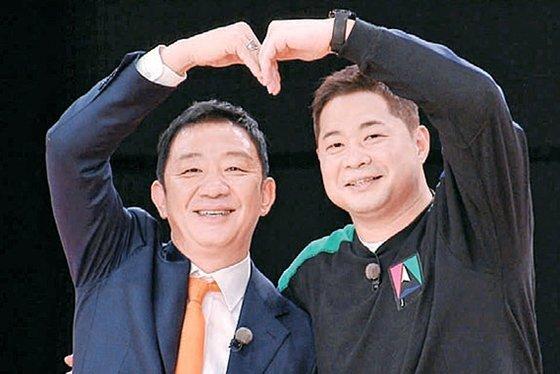 '뭉쳐야 쏜다'에 함께 출연한 현주엽(오른쪽). [중앙포토]