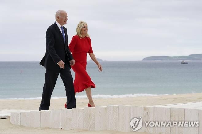 바이든 미국 대통령 부부 [AP=연합뉴스]