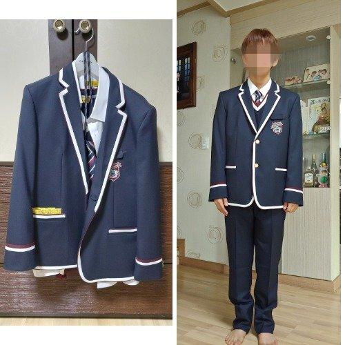 박군이 지난해 입학했어야 할 중학교의 교복은 아직도 옷장 앞에 그대로 걸려있다. 오른쪽은 박군이 다치기 전 교복을 입은 모습. 가족 제공