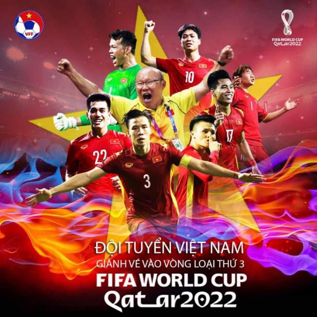 월드컵 최종예선 진출을 알린 베트남축구협회 게시물.출처 | 베트남축구협회 SNS