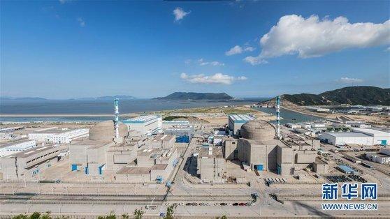 중국 타이산 핵발전소. [사진=신화망]