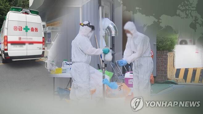 코로나19 환자 이송 [연합뉴스TV 제공]