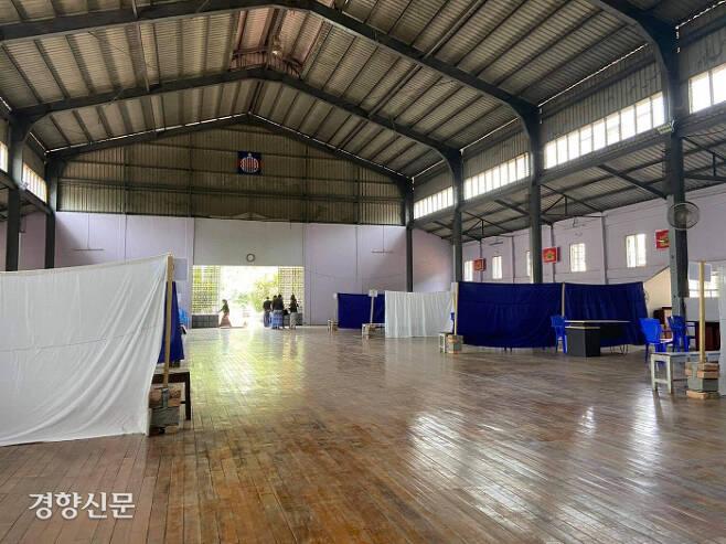 인세인교도소 내부에 위치한 접견실 모습 / 다큐앤드뉴스 제공