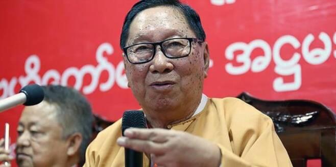 민주주의민족동맹(NLD)의 니얀 윈 중앙집행위원 [이라와디 사이트 캡처. 재판매 및 DB 금지]