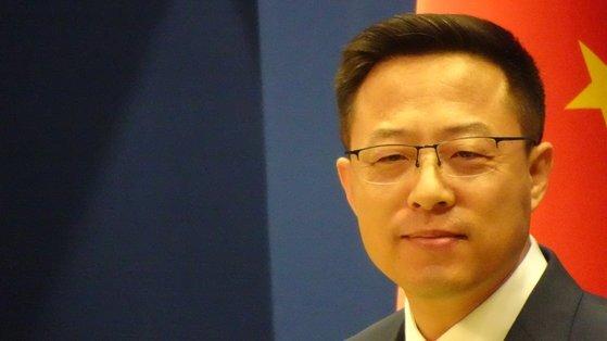 자오리젠 중국 외교부 대변인. 신경진 기자