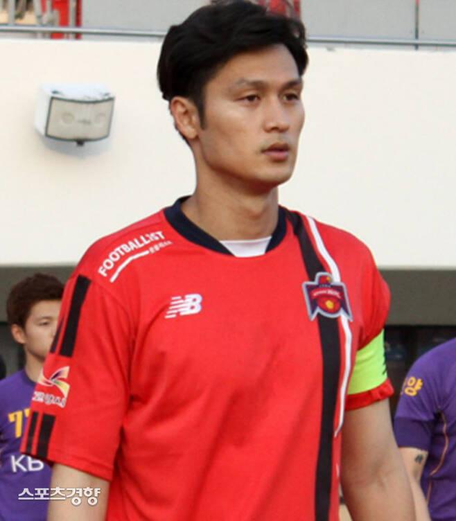 여효진이 현역 마지막 팀이었던 고양 HIFC 시절 모습.