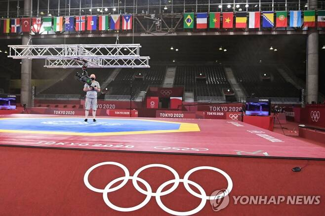 도쿄올림픽 태권도 코트. [AFP=연합뉴스]