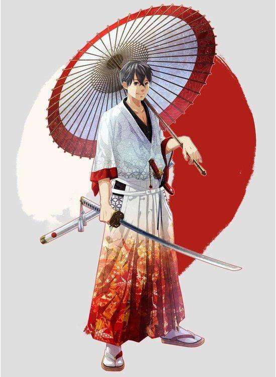 일본의 예술가들이 각국 국기와 문화를 일본 전통 문화인 사무라이에 접목시킨 캐릭터를 공개했다. 사진은 일본을 표현한 캐릭터