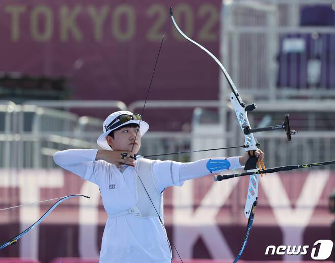 2020 도쿄 올림픽 양궁 대표팀의 안산. /뉴스1 © News1 송원영 기자