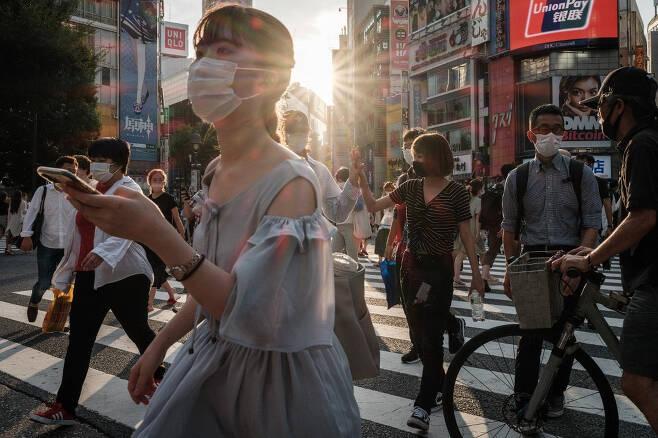 지난 28일 일본 도쿄 시내의 모습./사진=AFP