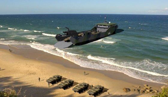 미 해병대의 새로운 전략을 위한 경상륙함 컴퓨터 그래픽. 사진 미 국방부