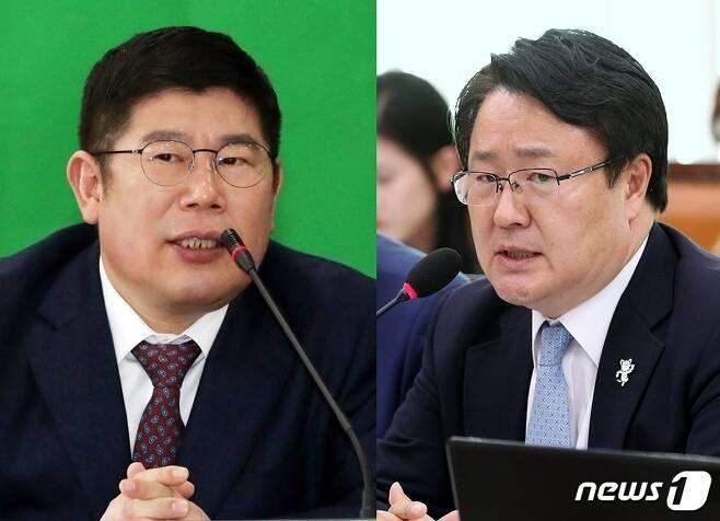 김경진(왼쪽)·송기석 전 의원/뉴스1 © News1