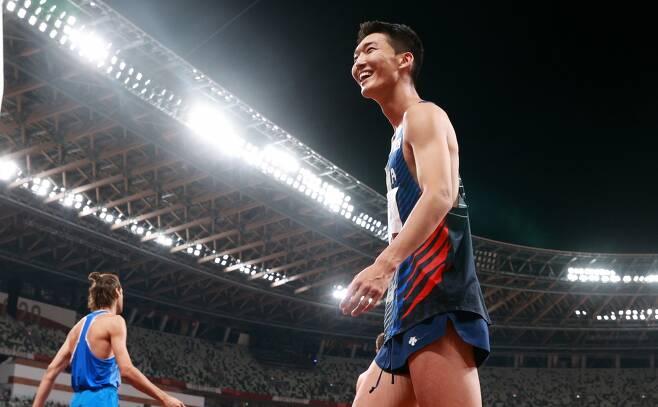 육상 우상혁이 지난 1일 오후 도쿄 올림픽스타디움에서 열린 2020도쿄올림픽 남자 높이뛰기 결선에서 2m35를 성공해 한국신기록을 세우며 4위로 경기를 마무리 했다. /사진=뉴스1