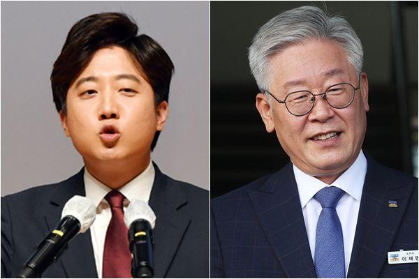 국민의힘 이준석(왼쪽) 대표와 더불어민주당 소속 이재명 경기도지사./연합뉴스