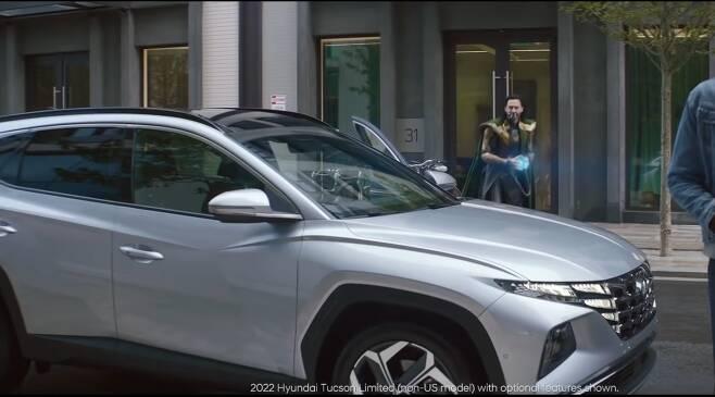 현대차 2022 투싼 광고에 등장한 로키. /현대차 유튜브 캡처