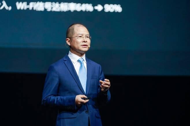 에릭 쉬 화웨이 순환 회장이 화웨이 커넥트 2021에서 기조연설을 하고 있다. /사진제공=화웨이