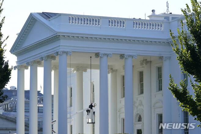 [워싱턴DC=AP/뉴시스] 미국 워싱턴 DC 백악관 전경. 2021.09.24.