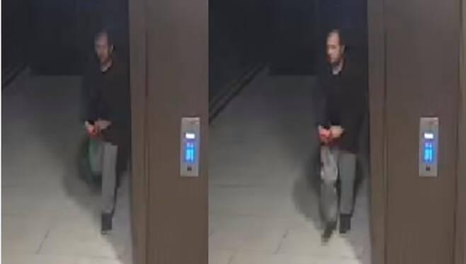 또다른 용의자 남성의 모습이 담긴 CCTV 영상 속 이미지.