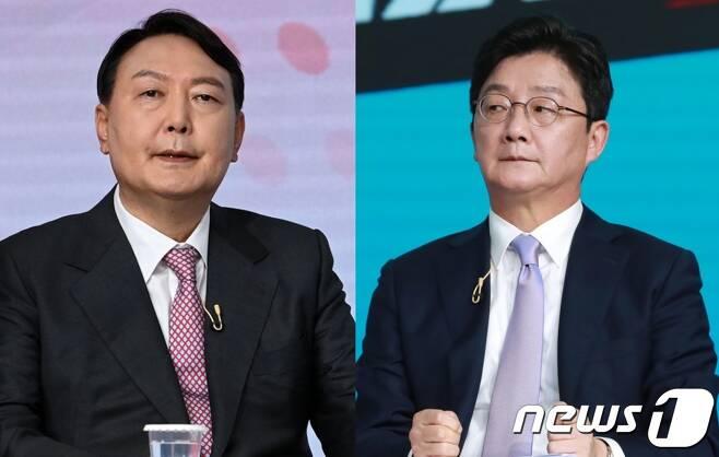 국민의힘 대권주자인 윤석열 전 검찰총장(왼쪽)과 유승민 전 의원 © 뉴스1