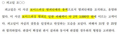 총책 E씨의 양형 결정 이유 (광주지방법원 판결문)