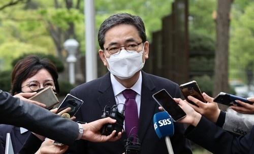국민의힘에서 탈당한 곽상도 의원. 연합뉴스
