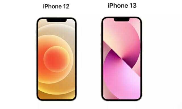 올해 출시된 아이폰13의 노치는 아이폰12에 비해 20% 줄어들었다. (사진=애플)