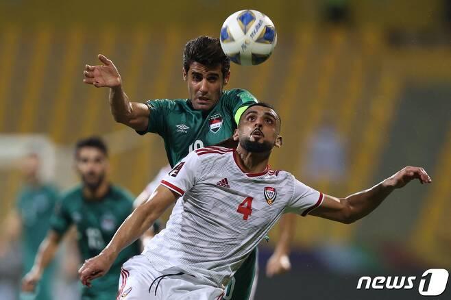 UAE와 이라크의 경기 모습© AFP=뉴스1