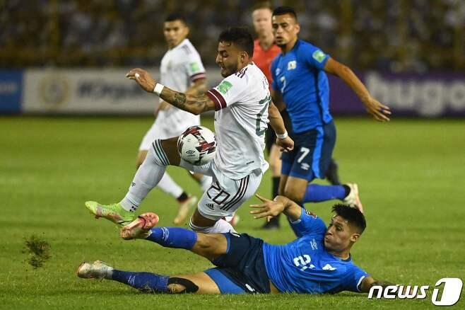 북중미 예선을 치르는 멕시코 대표팀 경기 모습 © AFP=뉴스1