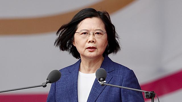 차이잉원 타이완 총통이 지난 10일 중화민국 건국 110주년 행사에서 연설하고 있다.