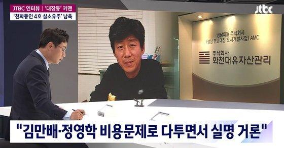 남욱 변호사는 12일 JTBC 단독인터뷰를 통해 천화동인 1호 실소유주 의혹, 정관계 로비 의혹 등에 대해 자신의 입장을 밝혔다. JTBC 캡처